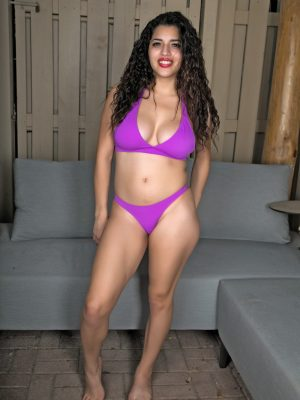 Gabriela's Purple Swimsuit