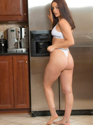 Shelby Strips In The Kitchen