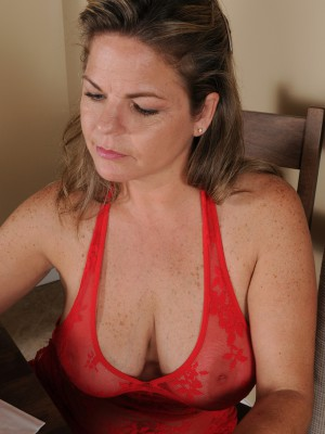 37 year old Marie Michaels having joy with the damsel huge mellow boobies in here