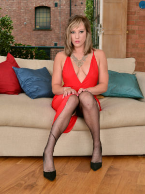 Beautiful Axajay in a nice-looking red dress