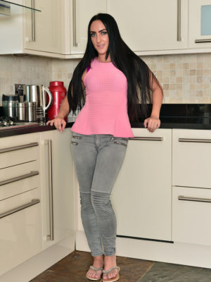 Chloe Lovette bare inwards kitchen