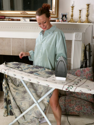 Leilani Johnson does some splendid ironing