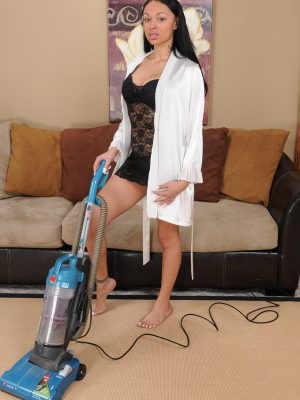Remarkable perverted Bethany Benz vacuums