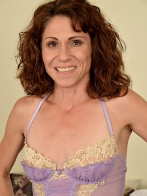Sexy MILF Sage Quest in lingerie