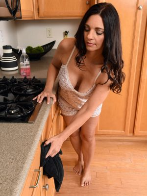Mindi Mink nude regarding the kitchen counter