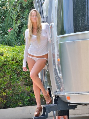 Courtney in the Airstream