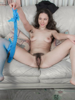 Hairy girl gretta enjoys being cute and feminine 8