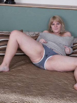 Jodie Dallas pieces off gray sweater during intercourse