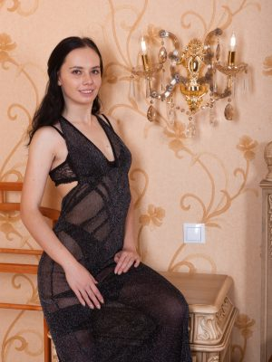 Jeanette strips off her sexy black dress