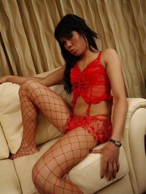 Naughty Asian Ladyboy Gets Nailed And Takes A Load On Her Stomach
