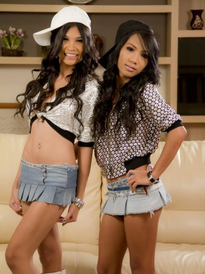 Two Stunningly Hot Asian Ladyboys Fucking Each Other