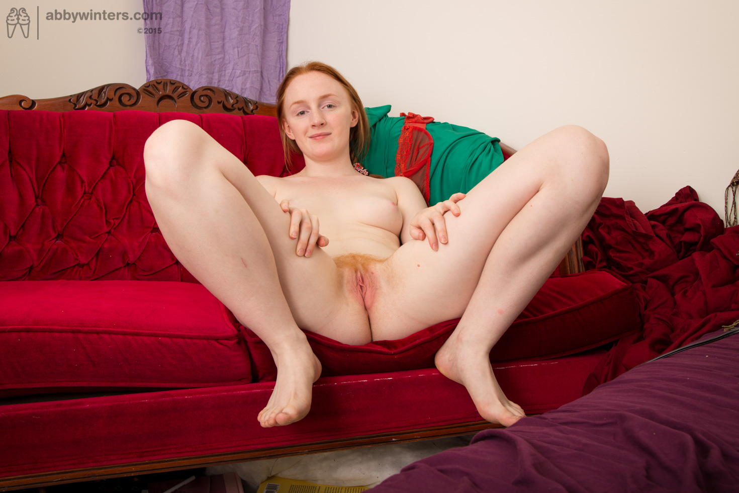 Real redhead hairy red pussy pink tits pale skin 2 1