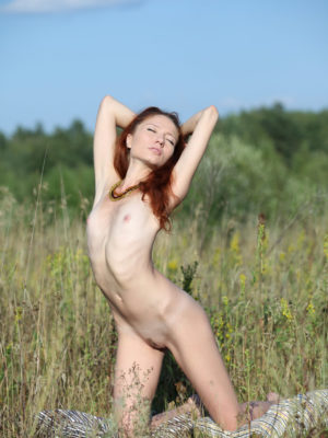 high redhead with milky epidermis Kesy seems great on outdoor image program