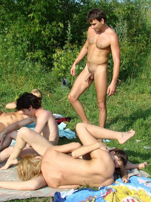 Nudist having group sex with you