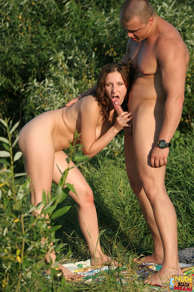 A Couple Enjoying Outside Oral Sex  09110-7881
