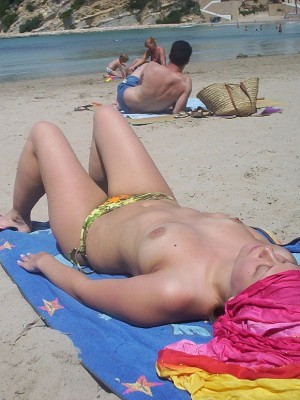 Blonde babe Teresa could be the hottest girl regarding the nudie beach