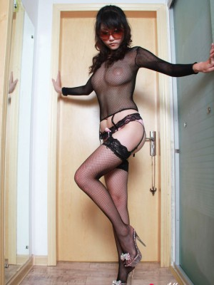 Big-boobed is actually erotic in nylons and determine through lace