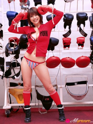 Hitomi Aizawa Oriental with big love melons actually likes sports in hot underware
