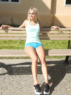 Cute Legal age teenager In Nike Air Max Plowed Outdoors