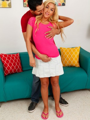 Excited babe Chanel Collins gets fucked doggystyle.