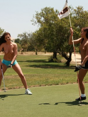 Topless Golfing