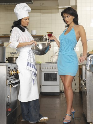 two slutty adult baby chefs get into each other in the kitchen