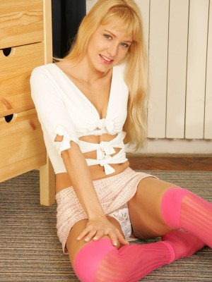 Czech teen poses in her hot underware