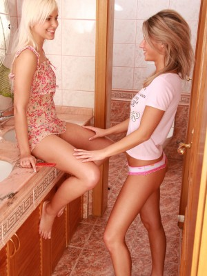 lesbo teenagers willing for a admirable dildo session