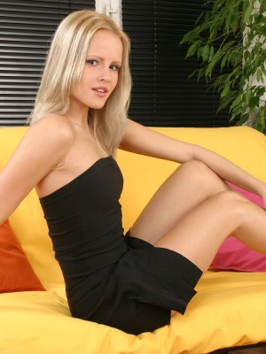 Provocative strip from Hungarian babe Monica