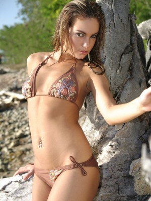 See her consummate in nature's garb body on the beach