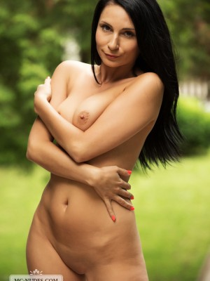 round kinks and daunting black colored locks. Join the woman and enjoy the pretty glances on the nude human anatomy.