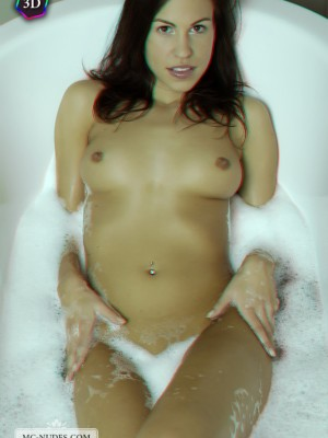 foaming within the woman round butt and pushing breasts for a damp and thrilling washing experience with genuine 3D.