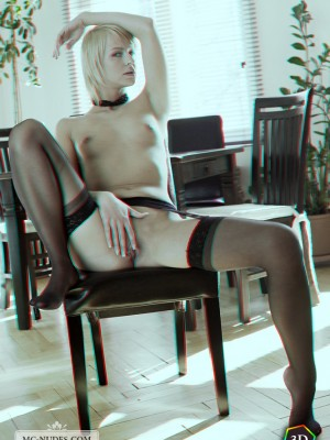leaning her body and pressing it sensually. Its in 3D like genuine.