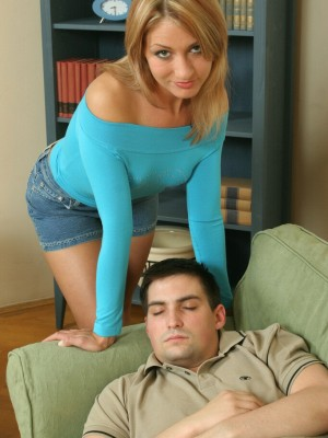 A nice hard cock helps Gina start her day off right!