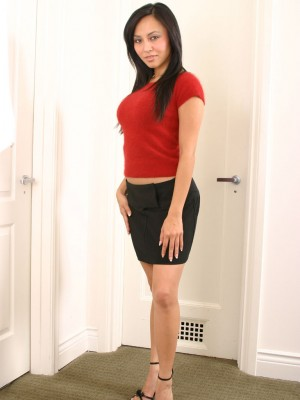 Ruth shows her foxy hose covered legs during perverted mastu - 2 2