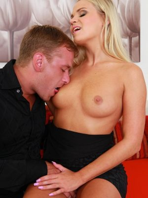 Horny Barra Brass gets her pussy fucked hard on the couch.