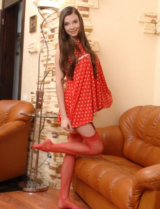 Hot red nylons