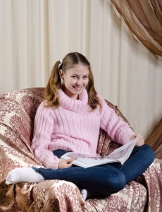 Girl on the armchair
